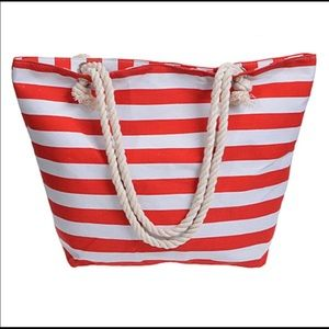 Classic Canvas Tote with Rope Handles Beach Bag